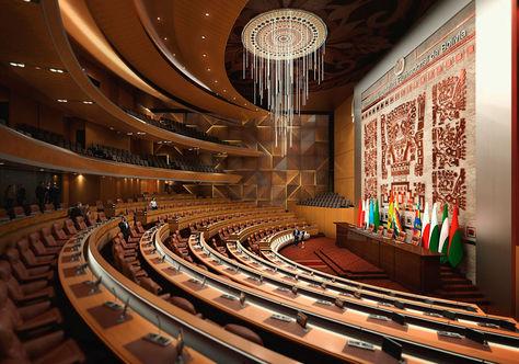 Así lucirá el hemiciclo de la Cámara de Diputados en el nuevo edificio de la Asamblea