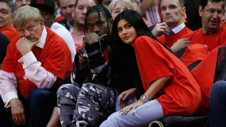 Kylie Jenner y Travis Scott fueron padres el 1 de febrero. (Getty)