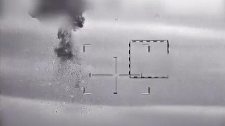 Las imágenes que muestran a Israel derribando un drone iraní