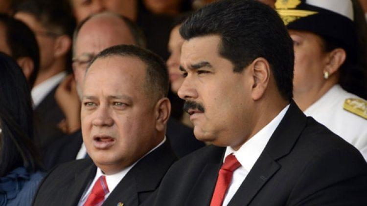 Diosdado Cabello, vicepresidente del PSUV, y Nicolás Maduro,a cargo del gobierno de Venezuela