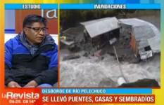 Municipio de Pelechuco sufre enormes pérdidas por el desborde del río