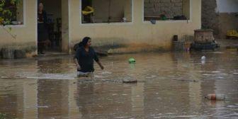 Torrencial lluvia inunda casas y destruye cultivos en Saipina