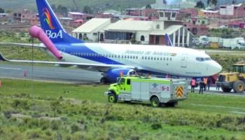 BoA dice que mal estado de la pista de aterrizaje produjo percance en Potosí