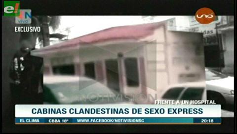 Ofrecen sexo express en cabinas clandestinas en pleno centro de Santa Cruz