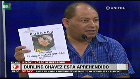 Policía detuvo a Durling Chávez