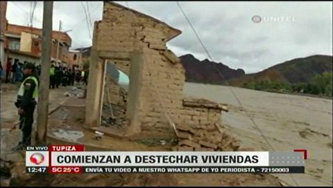 Comunarios de Tupiza lo perdieron todo, la crecida del río se llevó sus pertenencias