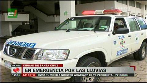 Santa Cruz: Emergencia municipal atenderá a barrios que sean afectados por las lluvias