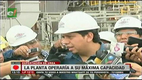Planta de Urea opera al 100% y se garantiza nominaciones para la exportación