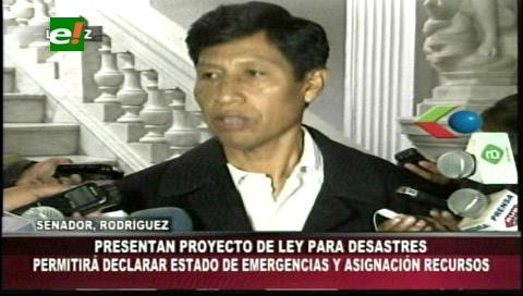 Presentarán proyectó de ley para los desastres naturales