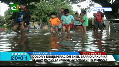Santa Cruz: Viviendas del barrio Urkupiña se inundaron
