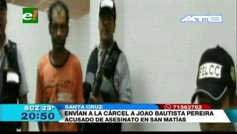 Brasileño es enviado a la cárcel acusado de asesinato