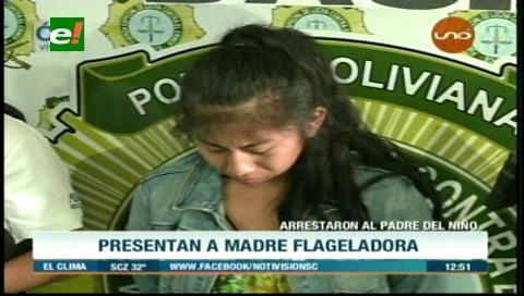 Acusan por dos delitos a mujer que grabó un video golpeando a su hijo