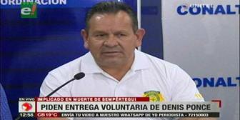 Caso Sempértegui: Felcc pide a Denis Ponce entregarse voluntariamente