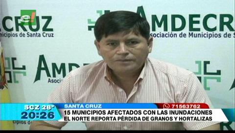 15 municipios cruceños fueron afectados por las lluvias