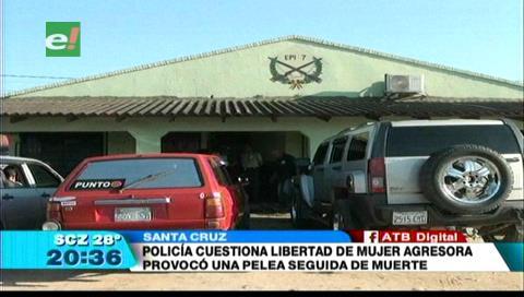 Policía cuestiona liberación de mujer que agredió a su pareja