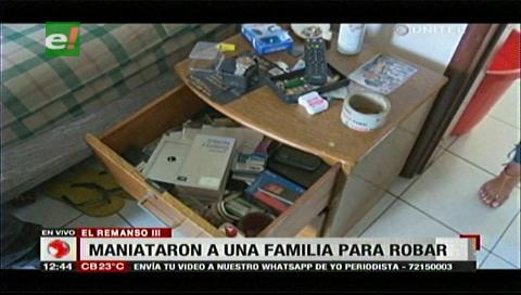 Familia es atracada y maniatada en su casa, delincuentes se robaron hasta el vehículo