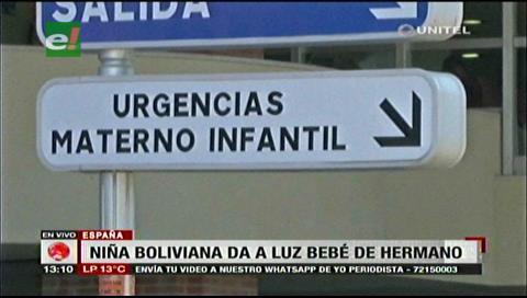 Una niña boliviana da a luz un bebé de su propio hermano en España