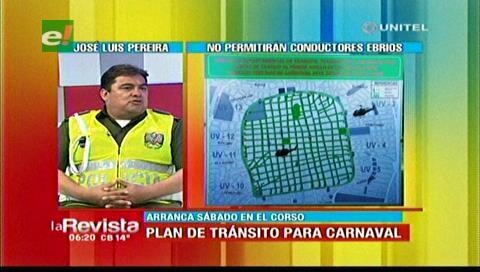 Santa Cruz: Tránsito alista plan de seguridad para los días de carnaval