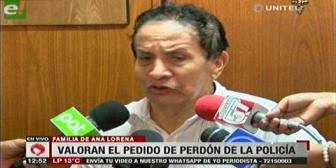 Eurochronos: Familia Tórrez valora disculpas de Siles, piden identificar al policía que disparó
