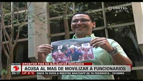 Diputado Monasterio acusa al MAS por movilizar a funcionarios públicos