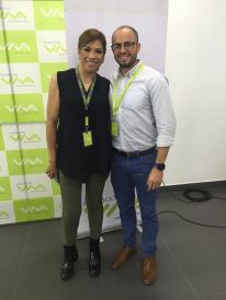 Claudia Cárdenas y Jose Lupo (Fundación VIVA)