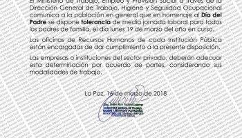 Trabajo Dispone Tolerancia De Media Jornada El 19 De Marzo Por El