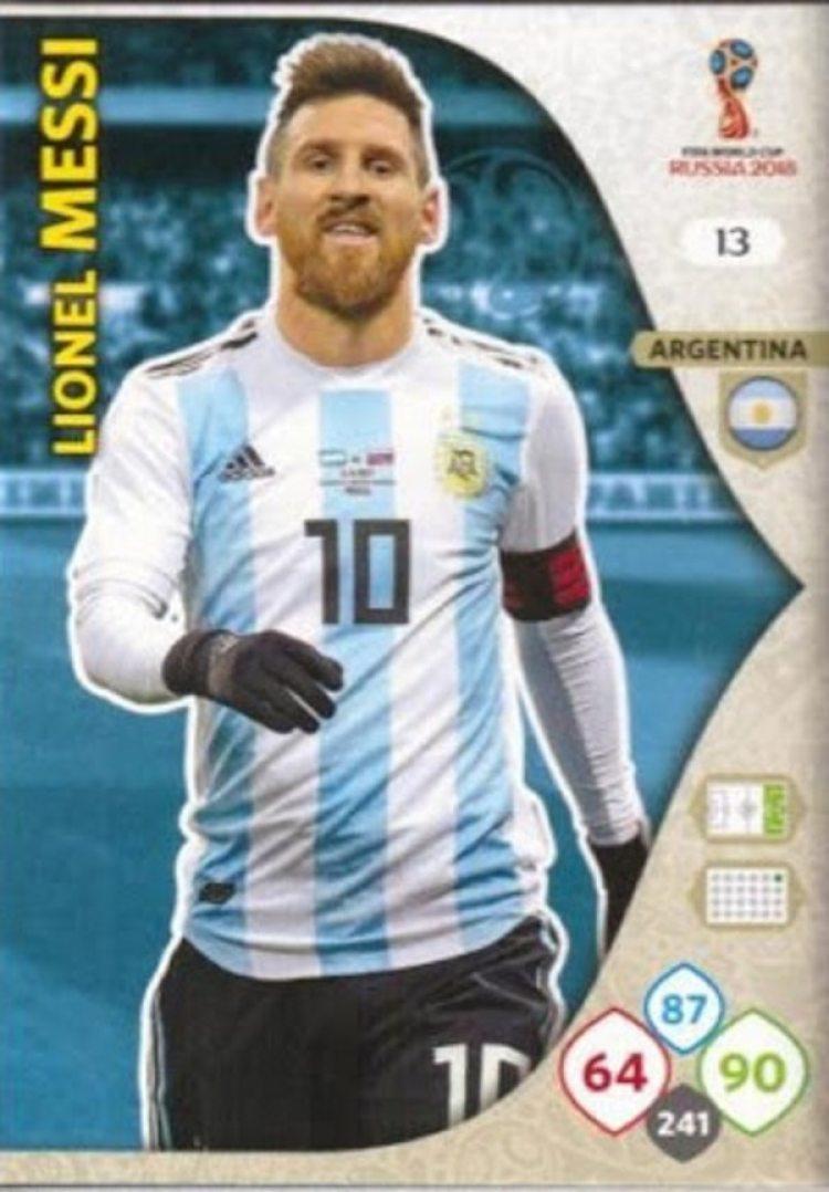 La versión Adrenalyn de Lionel Messi (Yo soy mundial)