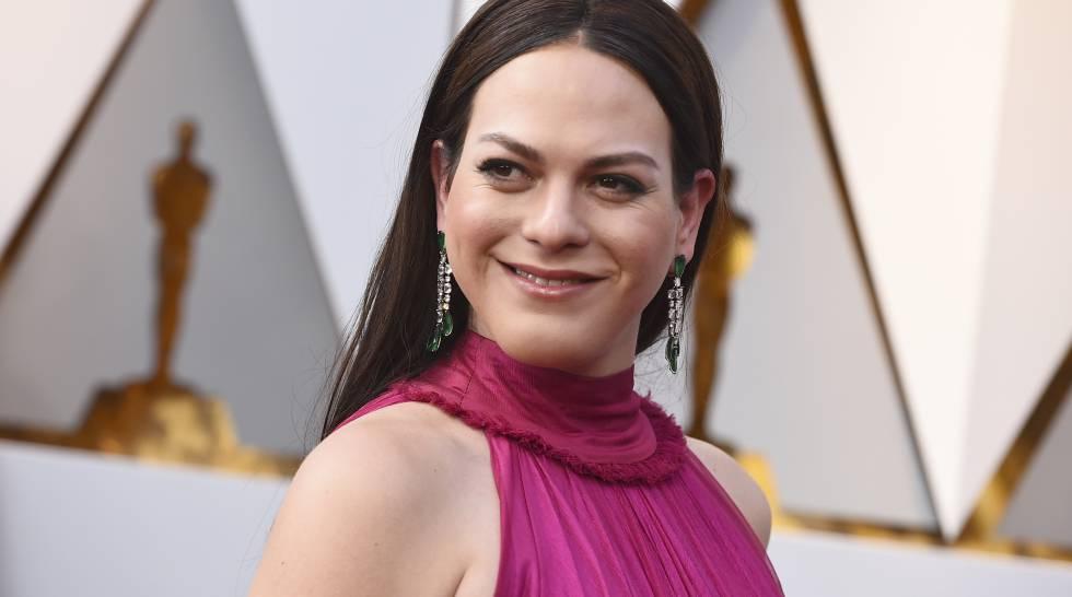 La actriz Daniela Vega en los Oscar 2018.
