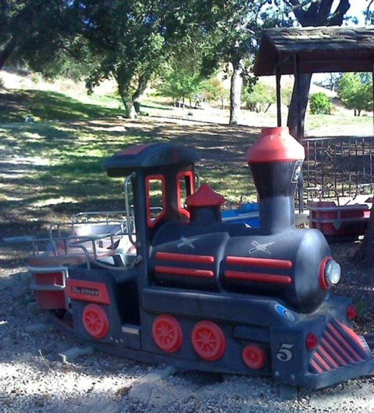 Un tren eléctrico, fabricado en Alemania, que Michael Jackson colocó en su rancho de Neverland (Cortesía de GWS Auctions Inc / The Washington Post)