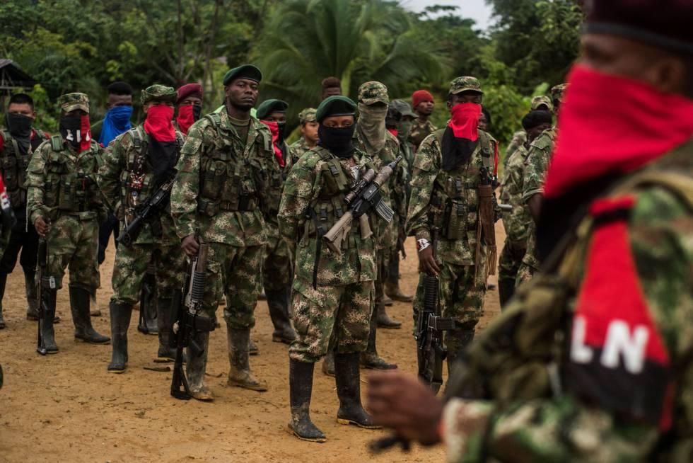 Miembros del ELN, la segunda guerrilla de Colombia.