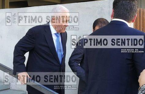 El expresidente Gonzalo Sánchez de Lozada en afueras de la corte en EEUU. Foto: Marcelo Paredes