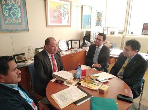 La reunión del ministro Romero con Mazziteli en Viena.