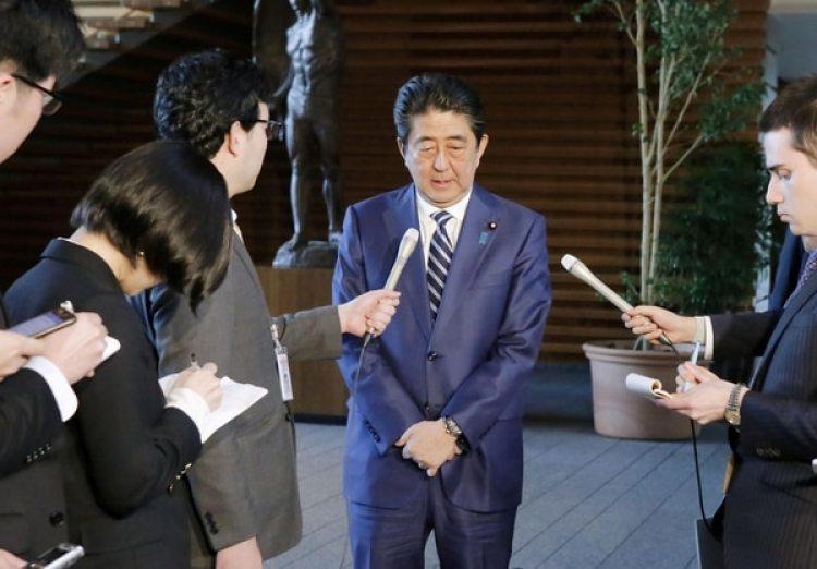 El primer ministro japonés Shinzo Abe en Tokio(Kyodo/via REUTERS)