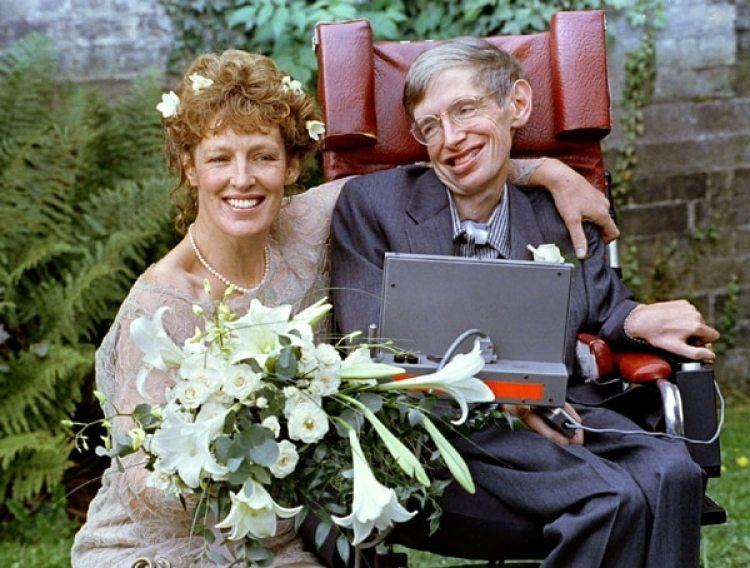 Stephen Hawkingjunto a su ex esposa Elaine Mason. REUTERS/Russell Boyce/File Photo