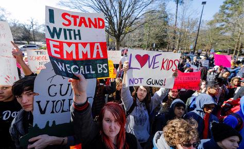 Protesta de estudiantes en EEUU