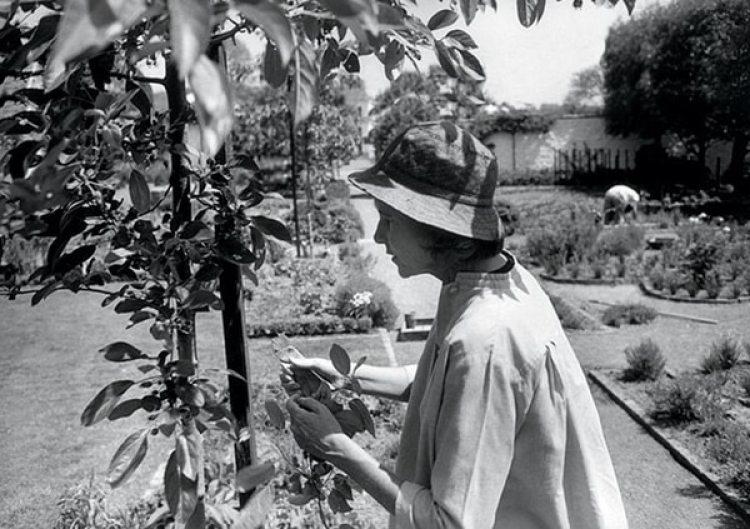 Rachel Lambert Mellon, jardinera vestida de balenciaga (Henri Cartier Bresson)