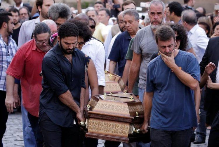 El funeral deMarielle Francoel 15 de marzo en Río de Janeiro (REUTERS/Ricardo Moraes)
