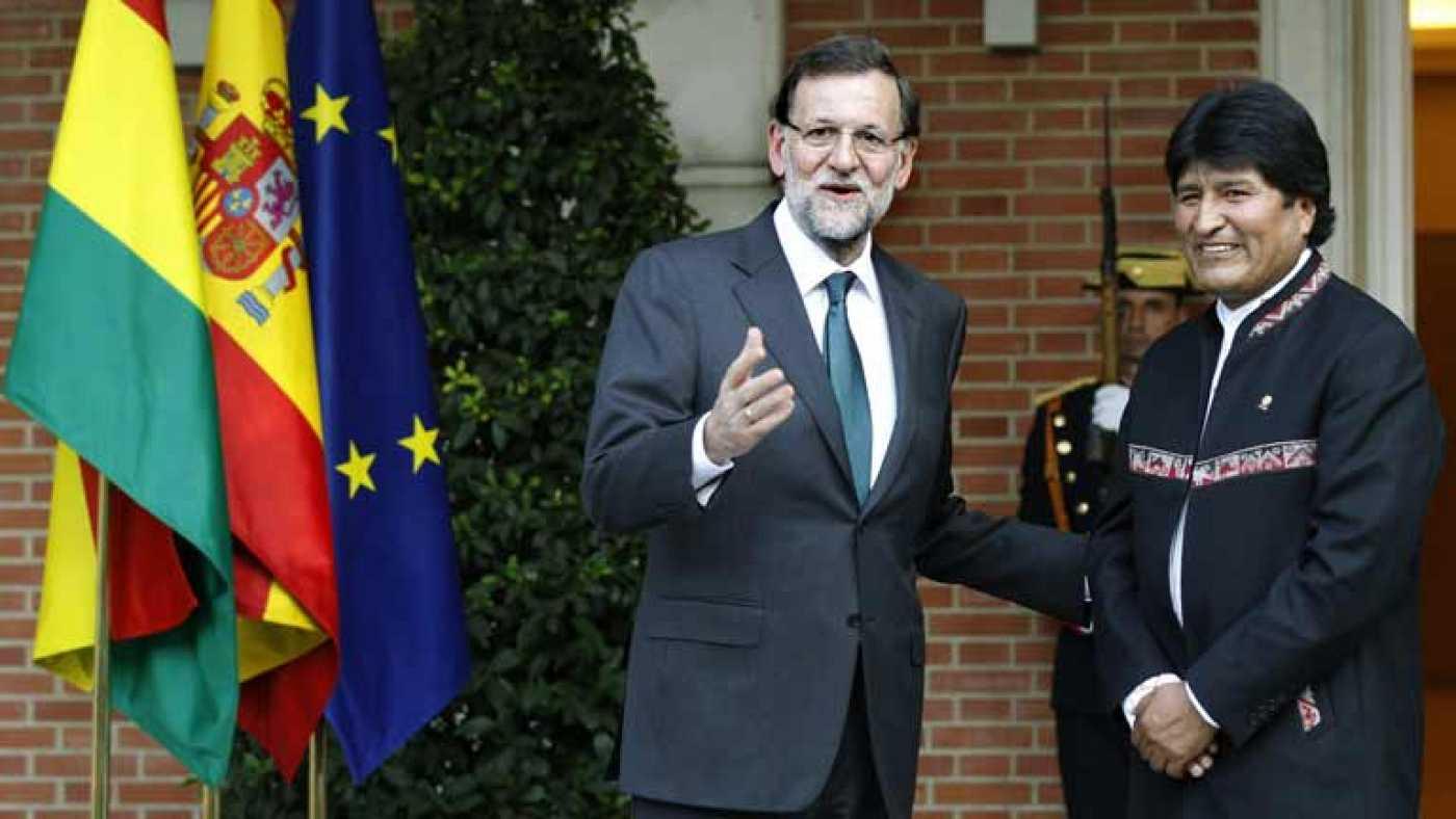 Resultado de imagen para Mariano Rajoy y evo morales
