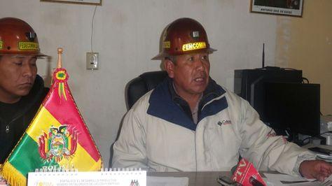 Simón Condori, presidente de la Federación Departamental de Cooperativas Mineras de La Paz (Fedecomin).