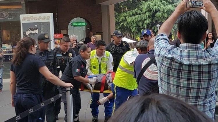 Reportan un herido tras el tiroteo producido en el centro comercial Reforma 222