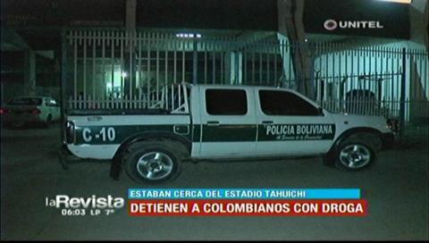 Detienen a colombianos en poder de sustancias controladas cerca del estadio Tahuichi