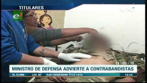 Video titulares de noticias de TV – Bolivia, mediodía del martes 13 de marzo de 2018