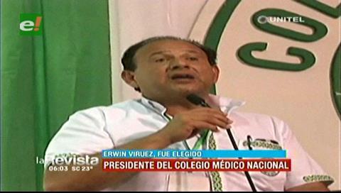 Erwin Viruez es el nuevo presidente del Colegio Médico de Bolivia