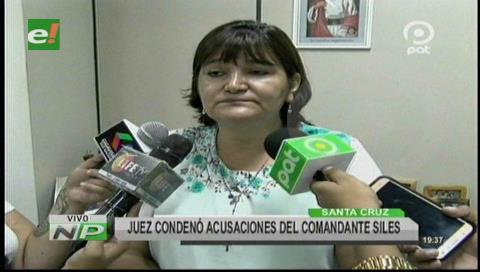 Juez rechaza acusaciones del comandante Siles de supuesta alerta a reos