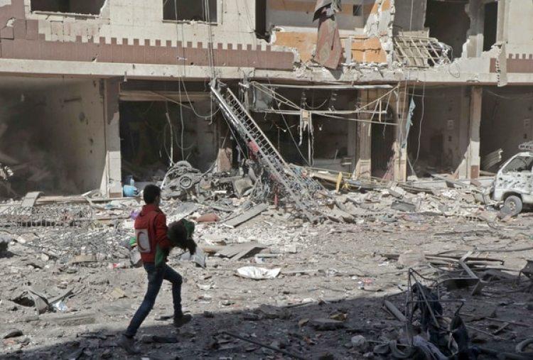 En los siete años de la guerra civil en Siria, ya murieron medio millón de personas(AFP / HAMZA AL-AJWEH)