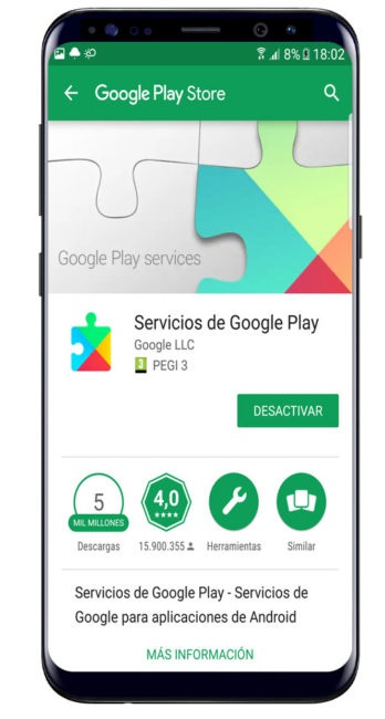 Play Services en Play Store