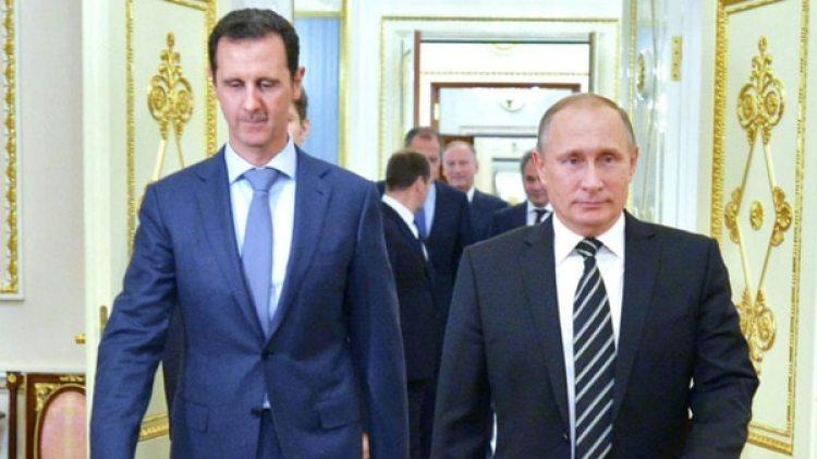 El dictador Bashar al Assad y su principal aliado, el presidente ruso Vladimir Putin