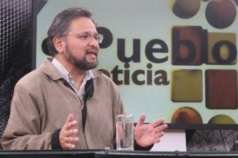 El ministro de la Presidencia, Alfredo Rada, en la entrevista con los medios estatales, el domingo.