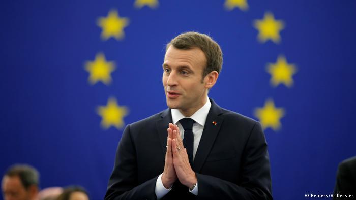 Macron habla ante el pleno del Parlamento Europeo