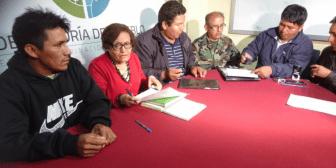 Cocaleros de La Asunta y autoridades firman acta para resolver el conflicto